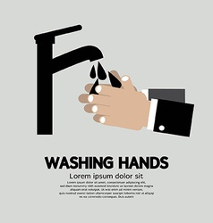 Washing hands with faucet vector