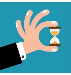 Hourglass in hands vector