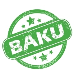 Baku green stamp vector