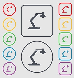 Light bulb electricity icon sign symbols on the vector