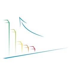 growth on graph vector image