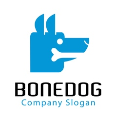 Bone dog design vector