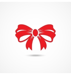 Ribbon bow icon vector
