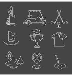 golf set vector image