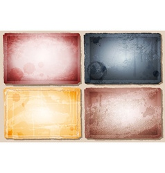 Stained vintage background set vector
