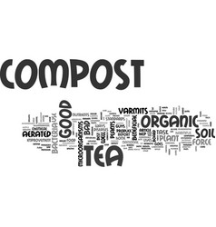 Aerated compost tea the new organic fertilizer vector