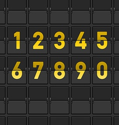Airport dashboard vector