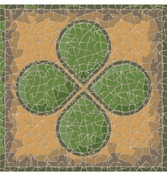 antique clover vector image