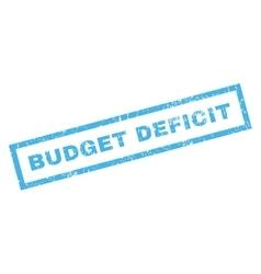 Budget deficit rubber stamp vector