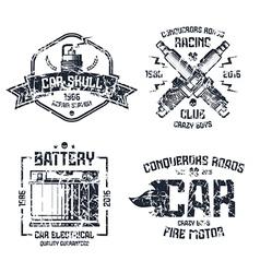 Car repair and racing emblems vector
