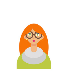 cute young hipster girl with glasses vector image