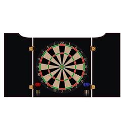 Dartboard cabinet vector