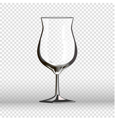 Empty cocktail drinking glass isolated on vector