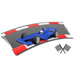 F1 racing car on the circuit vector