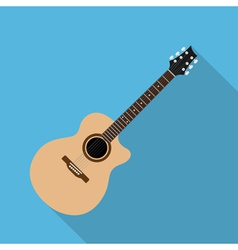 flat guitar 7 vector image vector image