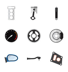 Flat icon parts set of input technology belt vector