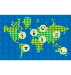 geography poster vector image vector image