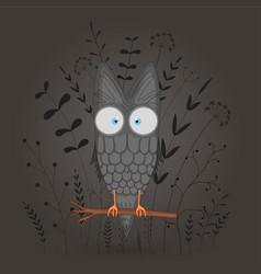 gift postcard with cartoon animal owl decorative vector image