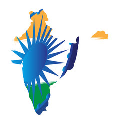 Isolated map of india vector