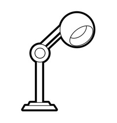 Lamp office silhouette vector