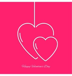 Lettering St Valentine Day vector image vector image