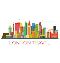 london skyline with color buildings vector image vector image