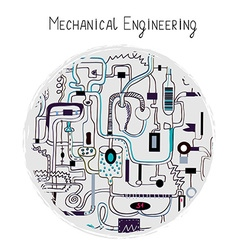 Mechanical engineering abstract background for the vector image vector image