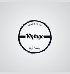 original premium label retro theme badge emblem vector image vector image
