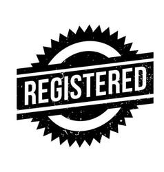 Registered rubber stamp vector