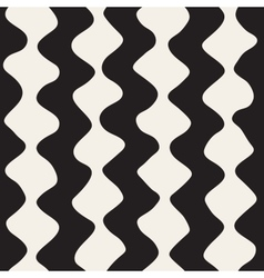 Seamless black and white hand drawn zigzag vector