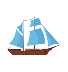 Ship excursion icon flat style vector