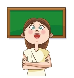 Teacher cartoon of back to school design vector