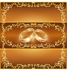 Wedding greeting or invitation card vector image