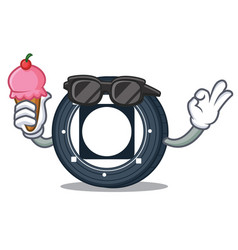 With ice cream byteball bytes coin character vector