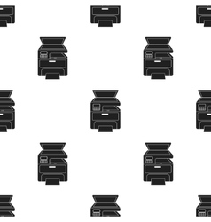 Multi-function printer in black style isolated on vector image