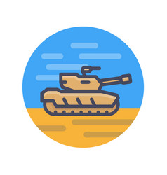 Modern tank icon in flat style vector