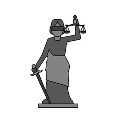 gray color graphic goddess of justice symbol vector image