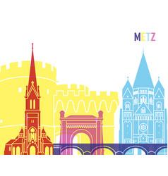 Metz skyline pop vector