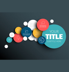 dark abstract infographic template vector image