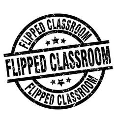 Flipped classroom round grunge black stamp vector