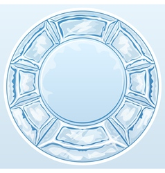 Ice round frame vector image