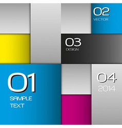 Cmyk squares vector