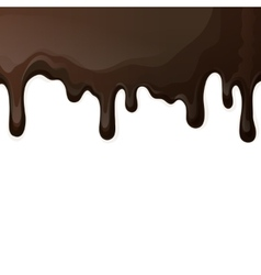 Dark chocolate drips background vector