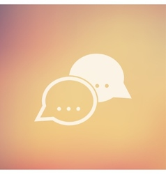 Two speech bubbles in flat style icon vector