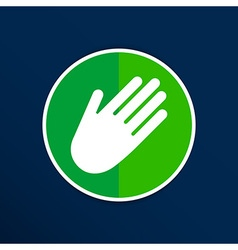 Hand icon palm symbol graphic sign line vector