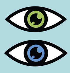 Symbolic eye icon vector