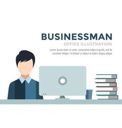 Businessman silhouette business man work vector