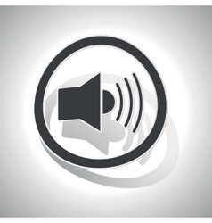 Curved loudspeaker sign icon vector