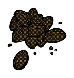 Comic cartoon coffee beans vector