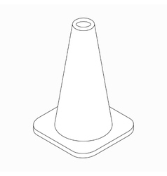 Training cone icon isometric 3d style vector